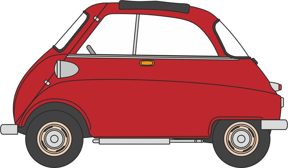 Oxford 76is001 Bmw Isetta Signal Red