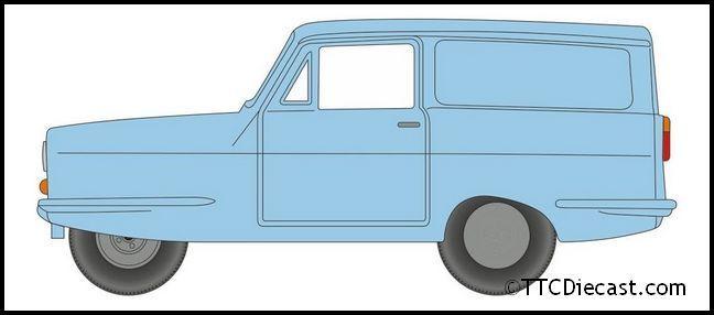 ° Oxford 76rel005 Reliant Regal azul claro escala 1:76 maqueta de coche nuevo