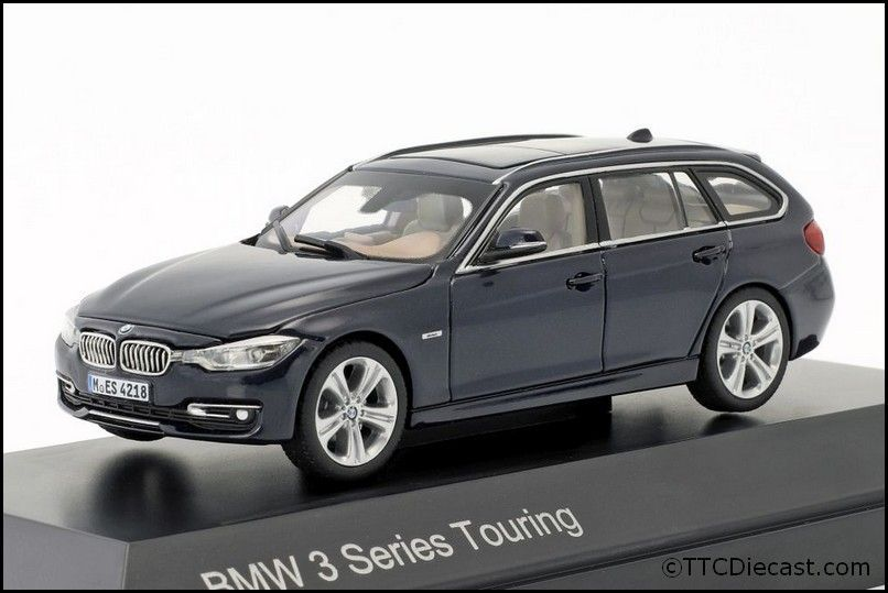 Dealer model BMW 2244254 - BMW 3 Series TOURING F31 F31 blue - 1:43 Scale