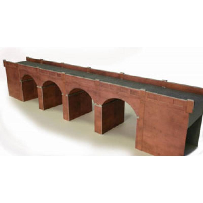 Railway Model Kit 00 Gauge Metcalfe PO240 Red Brick Viaduct