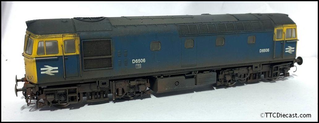 Heljan 3430 TTC A  Class 33 D6506 BR bleu - Expertly Weatherouge by ABC Workshops  magasin vente sortie